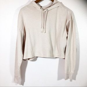 Peach color H&M Crop Top Hoodie size MEDIUM